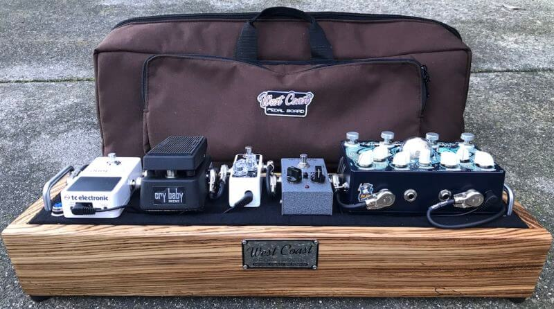 Mini guitar pedalboard case