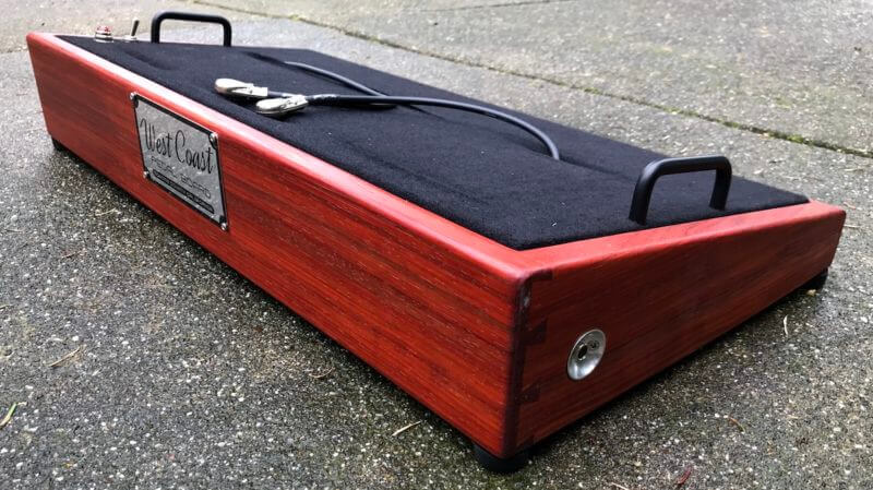 Do It Yourself Padauk Pedalboard Kit 4