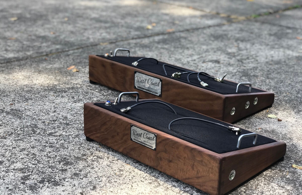 Angled Hard Wood Pedal Boards Featuring All The Best