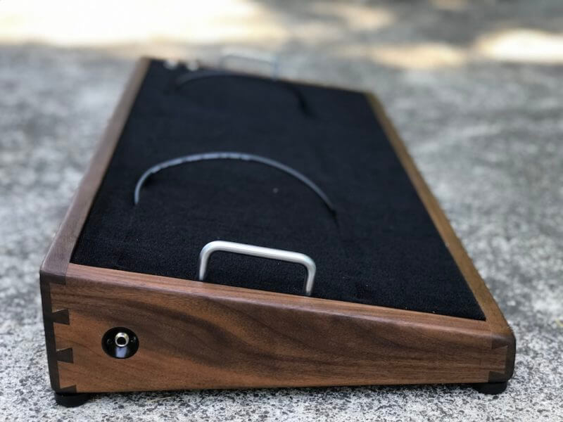 18X12 Walnut Pedalboard - Ready to Ship 2