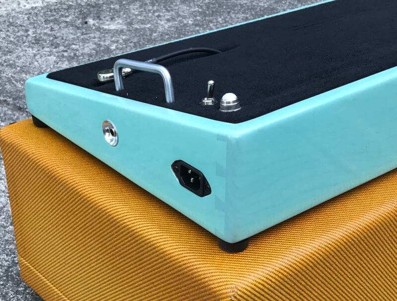 Surfer Green + Amber Burst Tweed Case - Ready to Ship 3