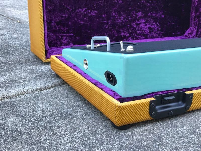 Surfer Green + Amber Burst Tweed Case - Ready to Ship 2