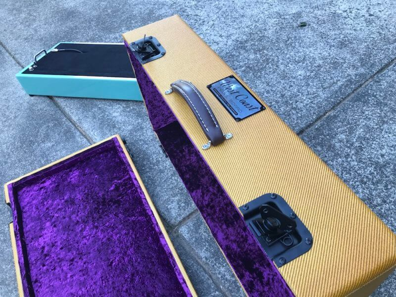 Surfer Green + Amber Burst Tweed Case - Ready to Ship 10