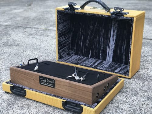 The Classic 18X12  Walnut + Aged Lacquered Tweed Case - Ready to Ship 3