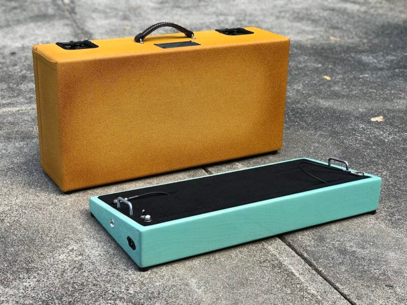 Surfer Green + Amber Burst Tweed Case - Ready to Ship 11
