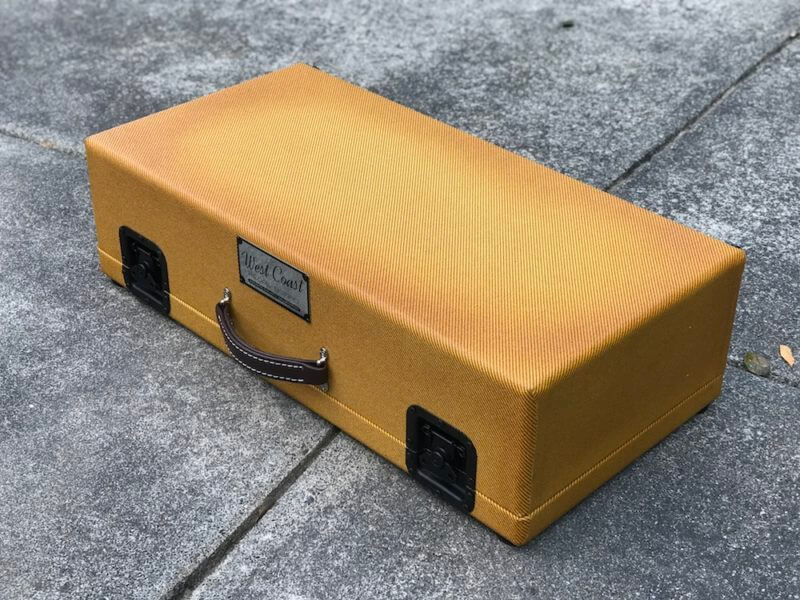 Surfer Green + Amber Burst Tweed Case - Ready to Ship 6