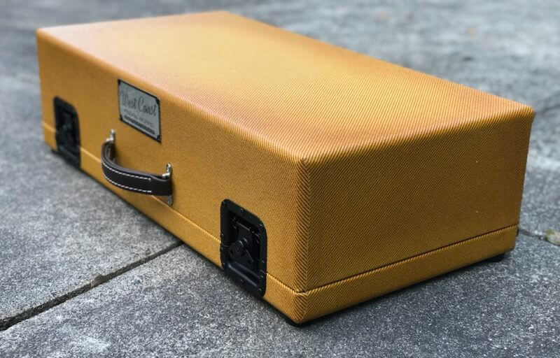 Surfer Green + Amber Burst Tweed Case - Ready to Ship 5
