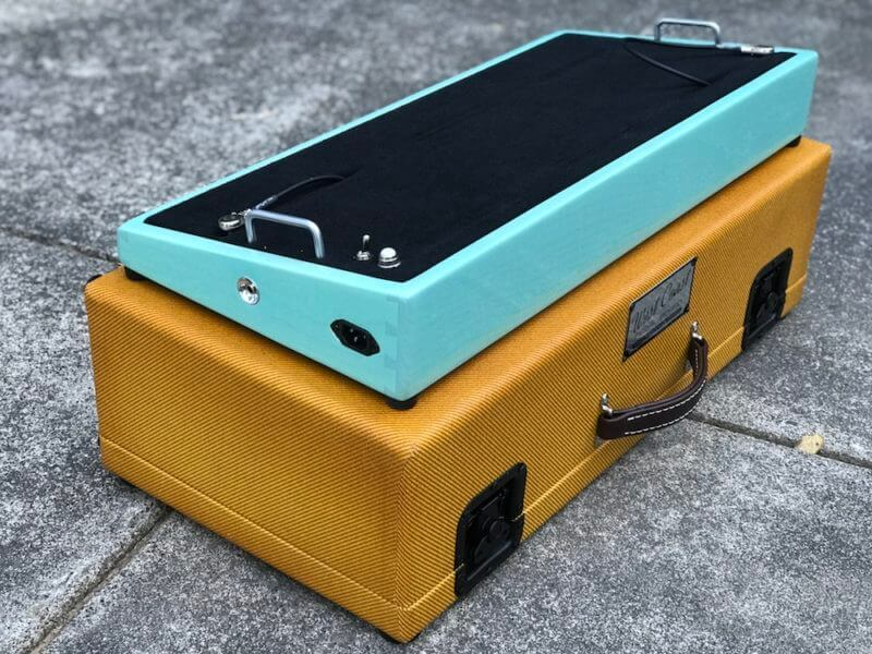Surfer Green + Amber Burst Tweed Case - Ready to Ship 4