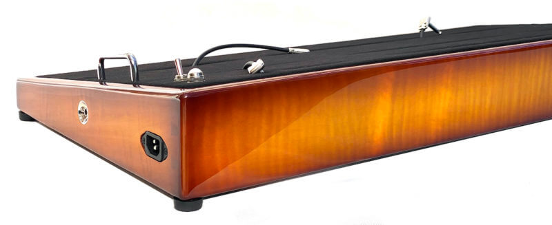 custom pedalboard iced tea burst