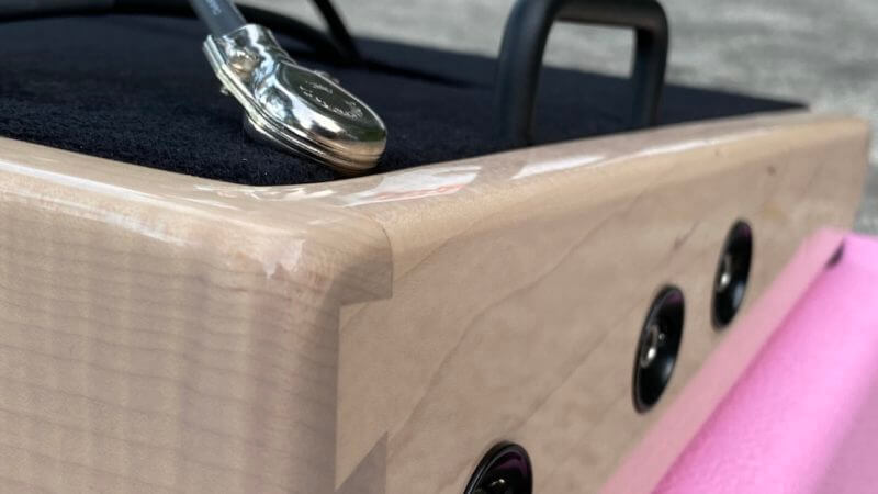 Shell Pink Board + Pink 'n' Black Custom Hard Case - Ready to Ship 3