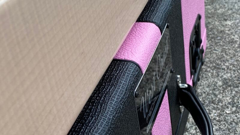 Shell Pink Board + Pink 'n' Black Custom Hard Case - Ready to Ship 5