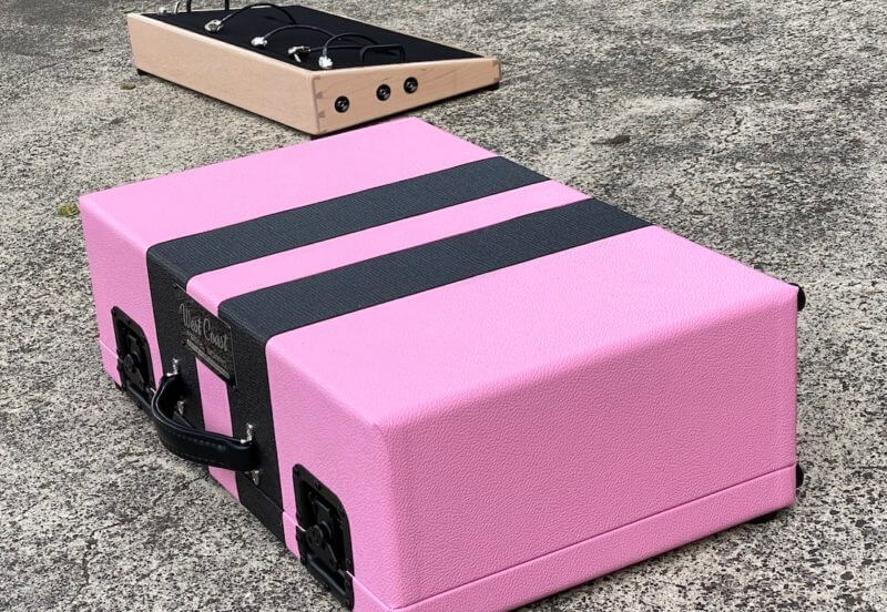 Shell Pink Board + Pink 'n' Black Custom Hard Case - Ready to Ship 11