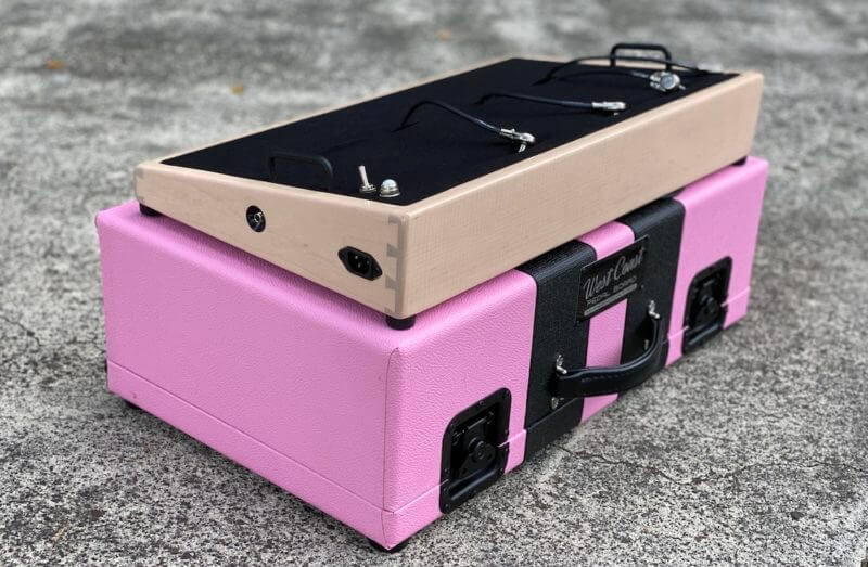 Shell Pink Board + Pink 'n' Black Custom Hard Case - Ready to Ship 12