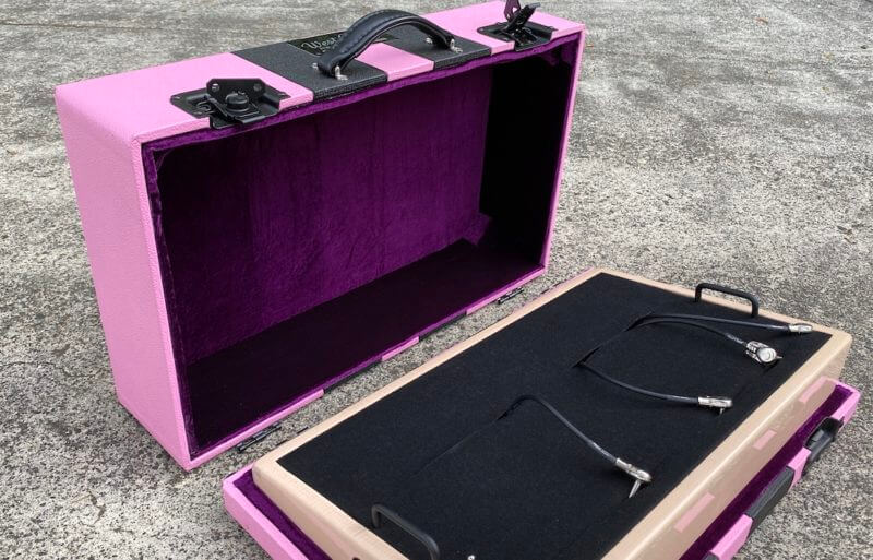 Shell Pink Board + Pink 'n' Black Custom Hard Case - Ready to Ship 16