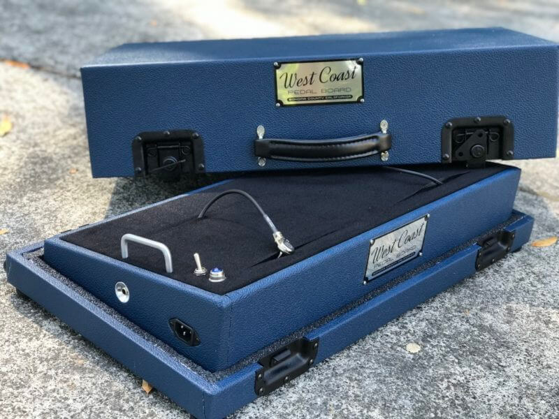 Navy Blue Tolex Board & Hard Case Combo Set 6