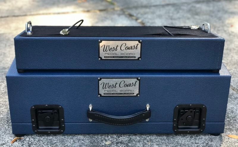 Navy Blue Tolex Board & Hard Case Combo Set 4