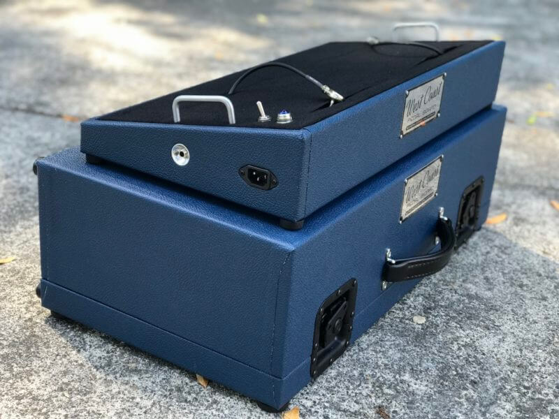Navy Blue Tolex Board & Hard Case Combo Set 3