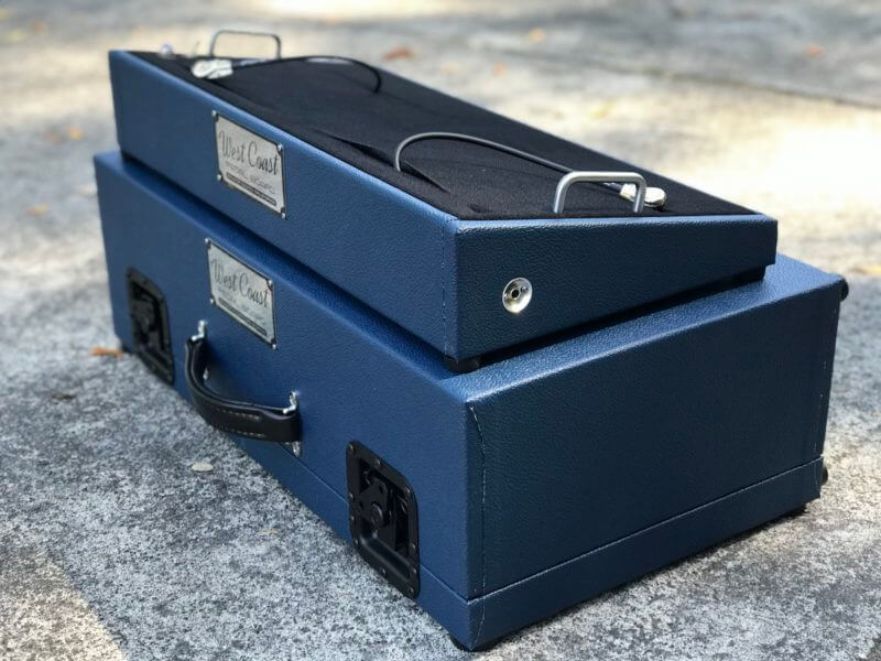 Navy Blue Tolex Board & Hard Case Combo Set 2