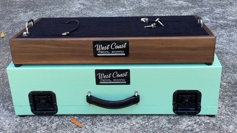 Walnut Pedalboard and Case