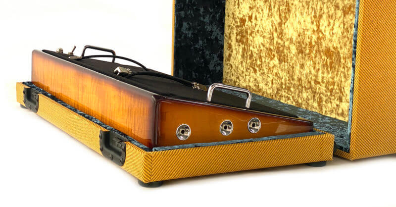 Whisky Burst & Amber Lacquer Tweed Case Combo - 24X12 - Ready to Ship 4