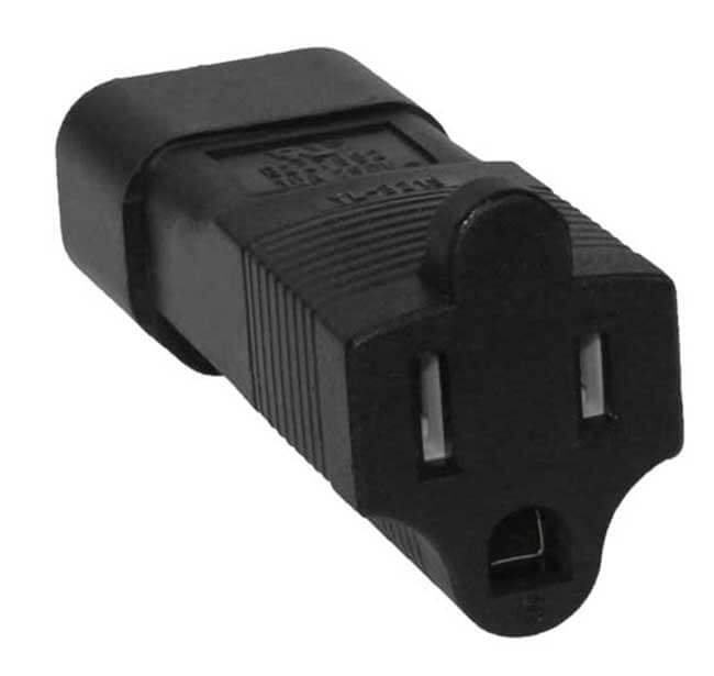 C14 to 5-15R Power Cable Converter - 110 to 250 Volt World Compatible 1