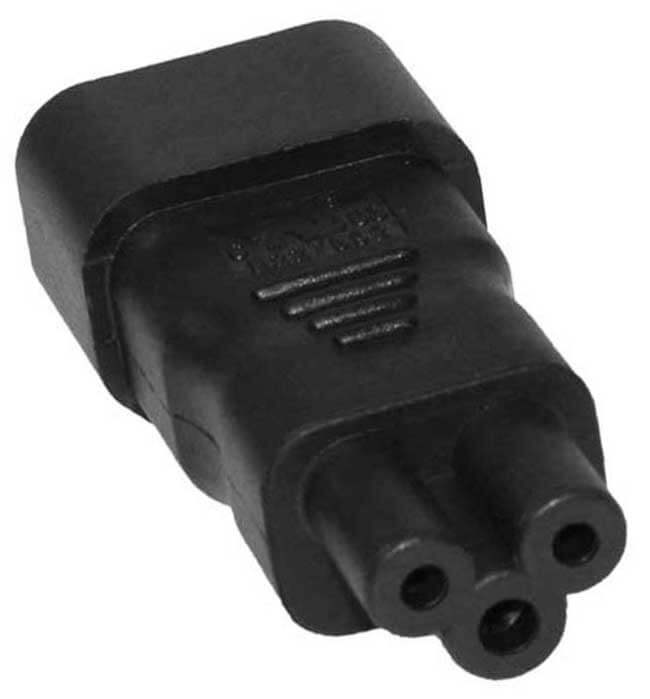 C14 to C5 (Mickey Mouse aka: Cioks) Power Cable Converter - 110 to 250 Volt World Compatible 1