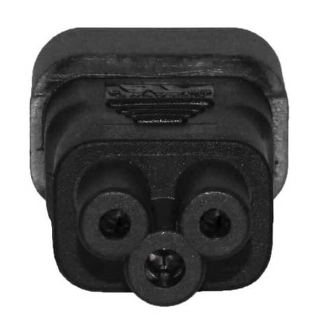 C14 to C5 (Mickey Mouse aka: Cioks) Power Cable Converter - 110 to 250 Volt World Compatible 2