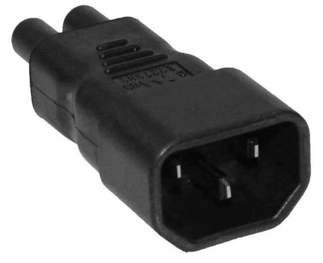 C14 to C5 (Mickey Mouse aka: Cioks) Power Cable Converter - 110 to 250 Volt World Compatible 4