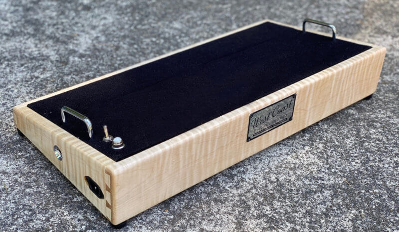 Flame Maple HardWood Pedalboard