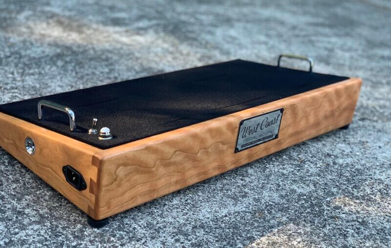 Curly Cherrywood Pedalboard