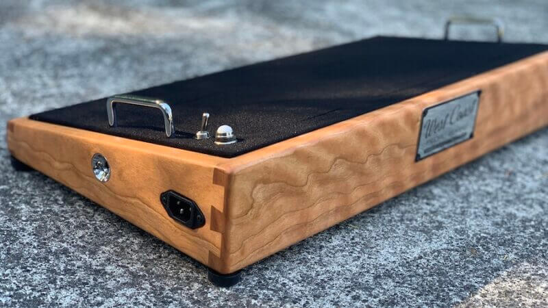 24X12 Figured Cherrywood Pedalboard - Ready to Ship 1