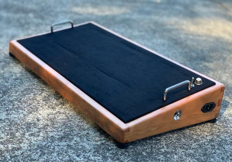 24X12 Figured Cherrywood Pedalboard - Ready to Ship 4