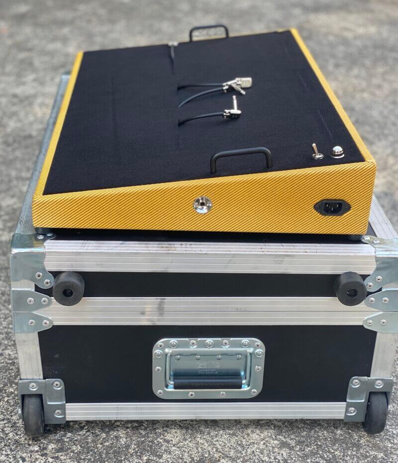 Amber Lacquered 30X18 Lacquered Tweed Angled Series plus Road Case - Ready to Ship 5