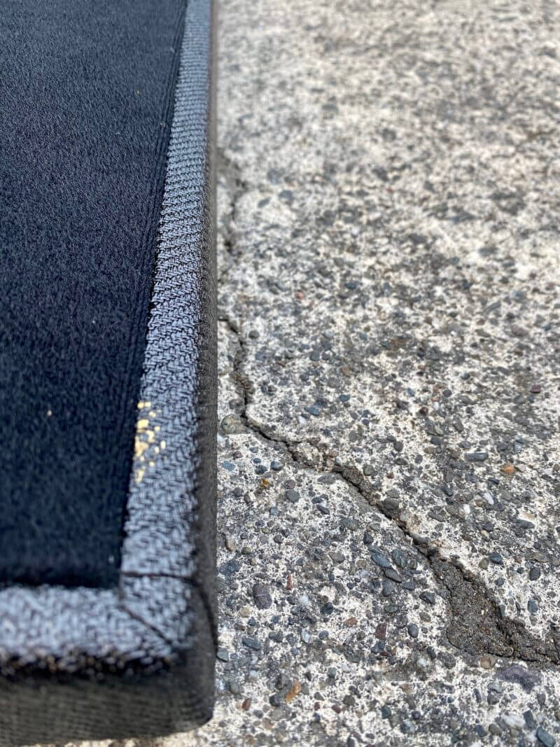 18X12 Lacquered Black Tweed Angled Series - Ready to Ship 6