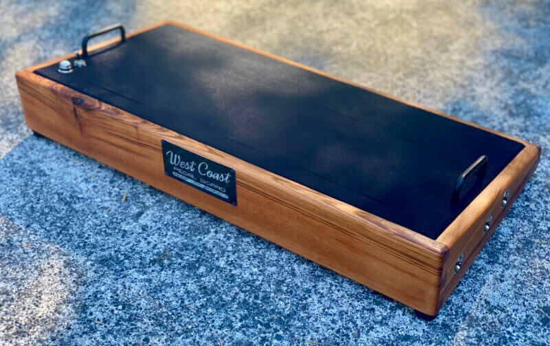 24X12 Goncalo Alves Pedalboard - Ready to Ship 1