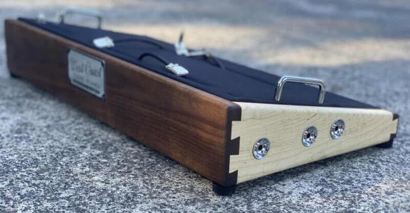Walnut and Flame Maple Hardwood Pedalboard