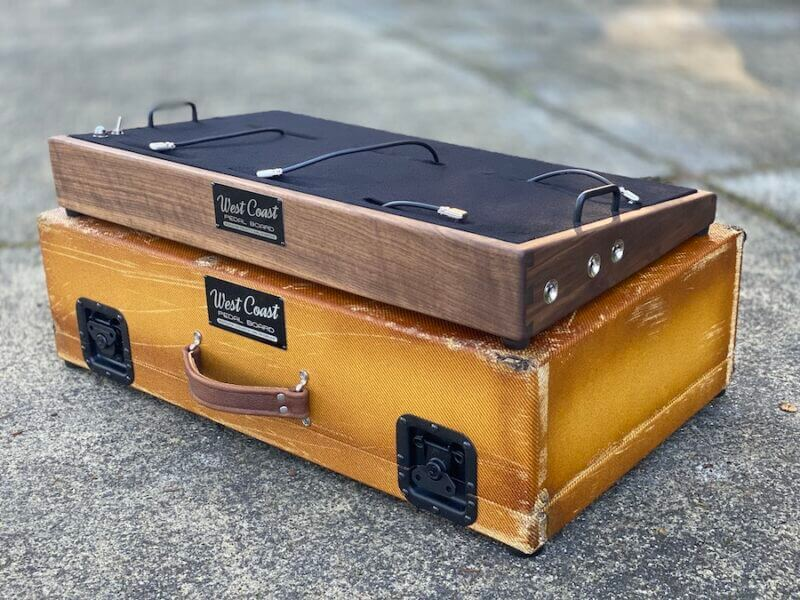 Vintage 28X16  Walnut + Aged Lacquered Tweed Case - Ready to Ship 1