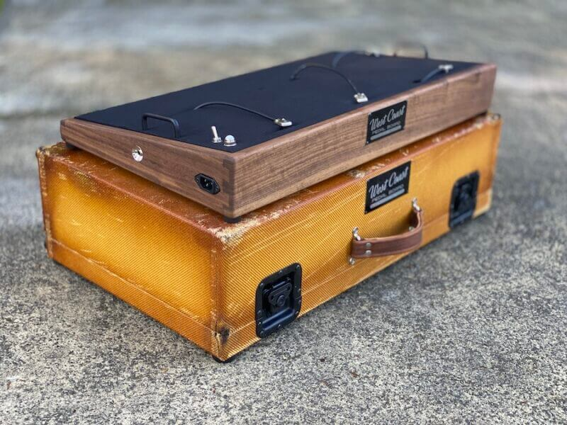 Vintage 28X16  Walnut + Aged Lacquered Tweed Case - Ready to Ship 2