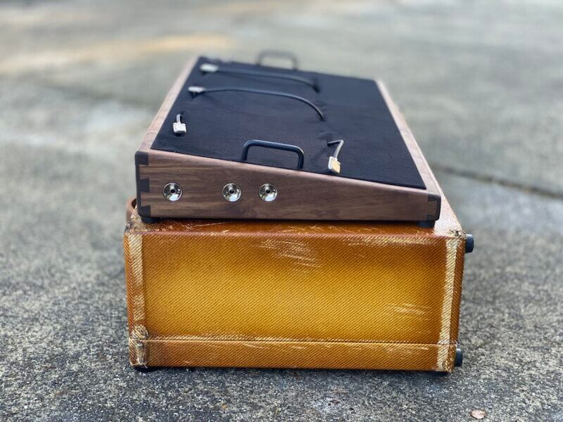 Vintage 28X16  Walnut + Aged Lacquered Tweed Case - Ready to Ship 3