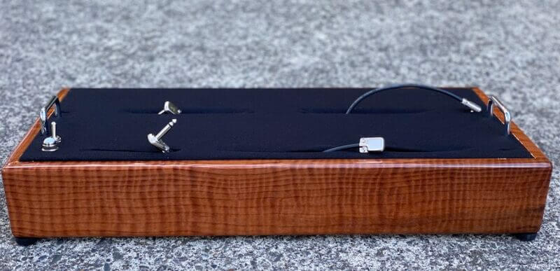 LIMITED Curly Redwood Pedalboard - 24X13 - Ready to Ship 1