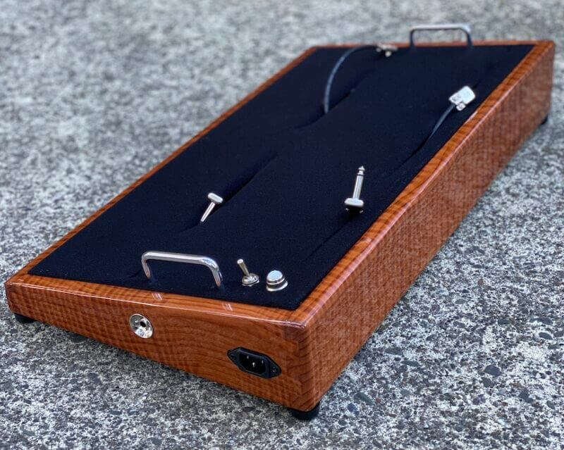 LIMITED Curly Redwood Pedalboard - 24X13 - Ready to Ship 2