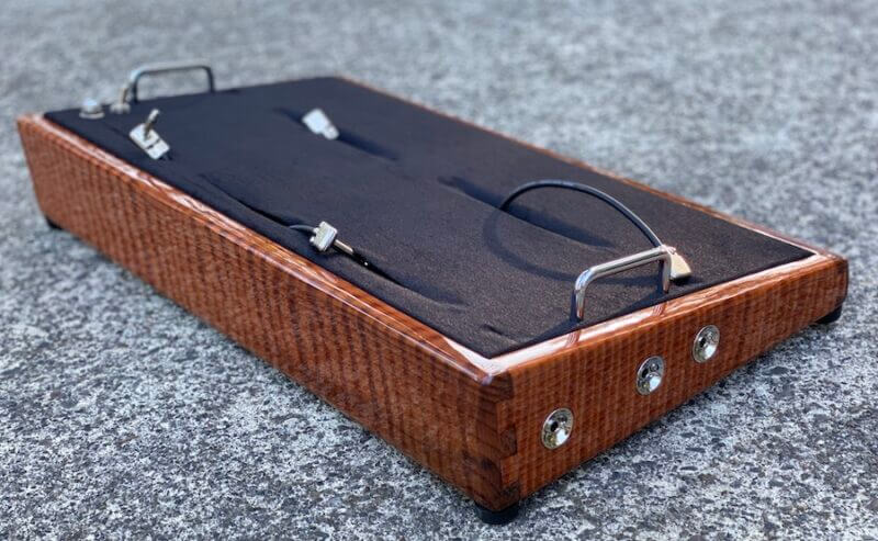 LIMITED Curly Redwood Pedalboard - 24X13 - Ready to Ship 4