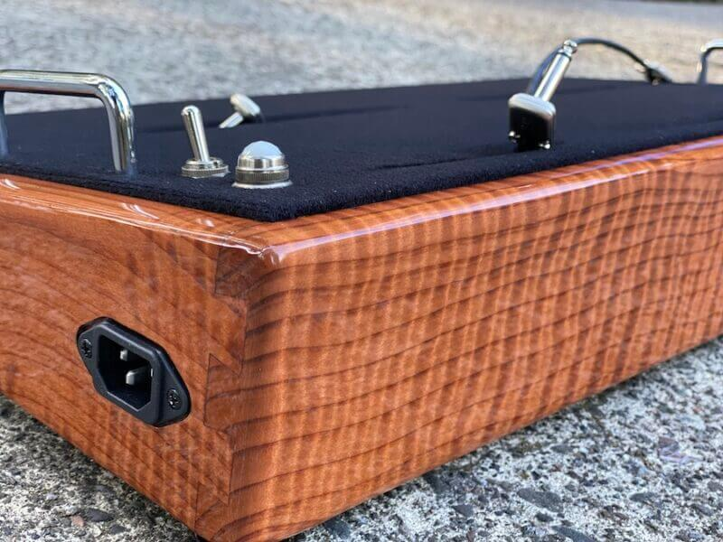 LIMITED Curly Redwood Pedalboard - 24X13 - Ready to Ship 5