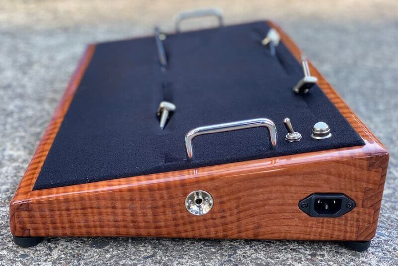 LIMITED Curly Redwood Pedalboard - 24X13 - Ready to Ship 6
